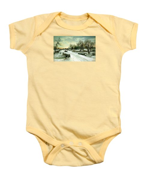 Happy Holidays Baby Onesie by Travel Pics