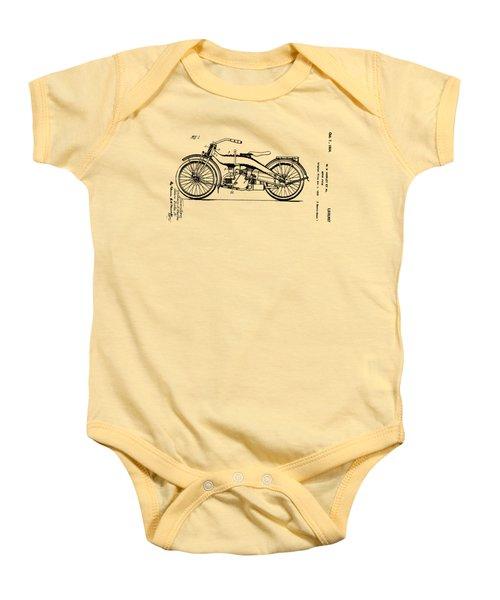 Harley Motorcycle Patent Baby Onesie