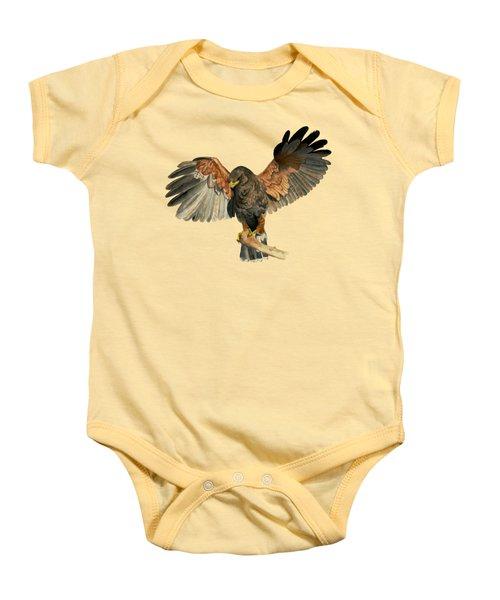 Hawk Flapping Wings Watercolor Painting Baby Onesie