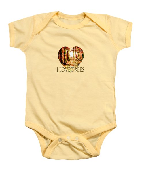 Heart Of The Forest-abstract Painting By V.kelly Baby Onesie