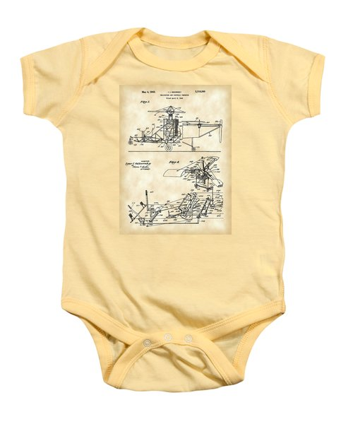 Helicopter Patent 1940 - Vintage Baby Onesie