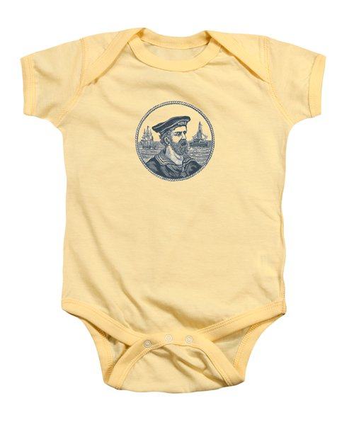 Hero Sea Captain - Nautical Design Baby Onesie