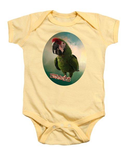 Higgins Baby Onesie by Zazu's House Parrot Sanctuary