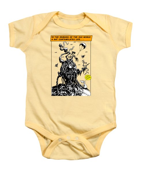 In The Remains Of The Old World Baby Onesie by Kim Gauge