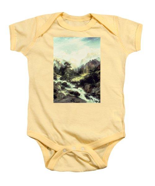 In The Teton Range Baby Onesie