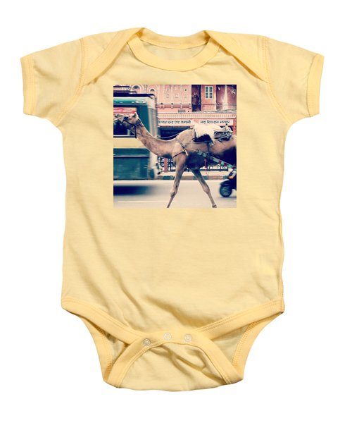 India - Where Even The Camels Overtake Baby Onesie