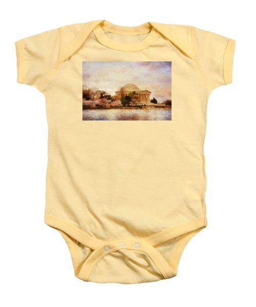 Jefferson Memorial Just Past Dawn Baby Onesie