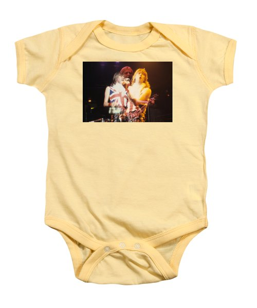 Joe And Phil Of Def Leppard Baby Onesie by Rich Fuscia
