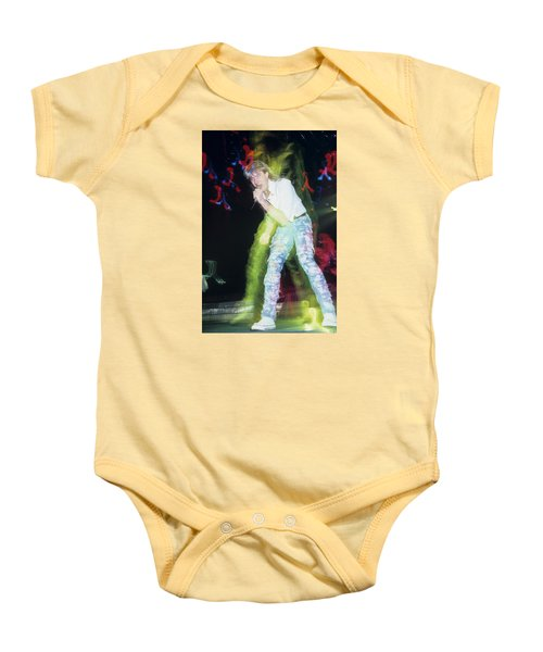 Joe Elliott Of Def Leppard Baby Onesie by Rich Fuscia