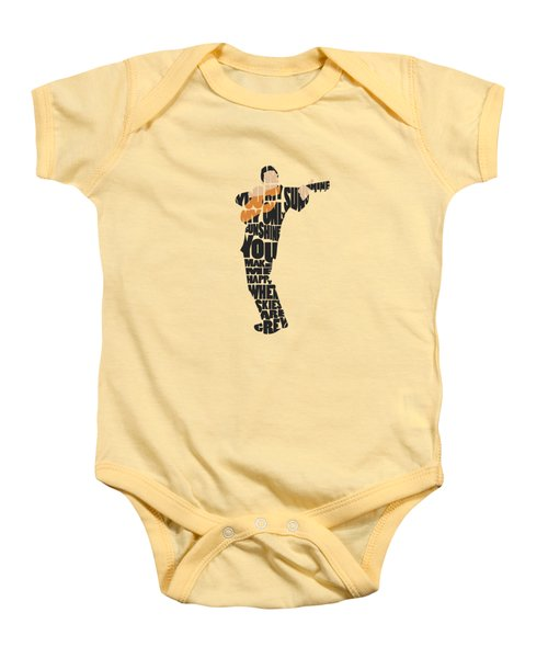 Johnny Cash Typography Art Baby Onesie