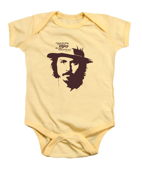 Johnny Depp Minimalist Poster Baby Onesie by Lab No 4 - The Quotography Department