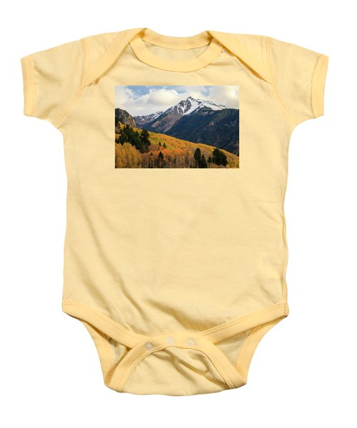 Baby Onesie featuring the photograph Last Light Of Autumn by David Chandler