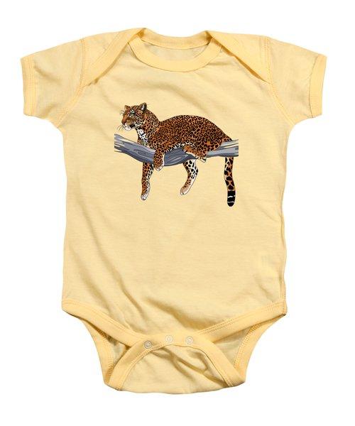 Leopard Baby Onesie by Alexandra Panaiotidi