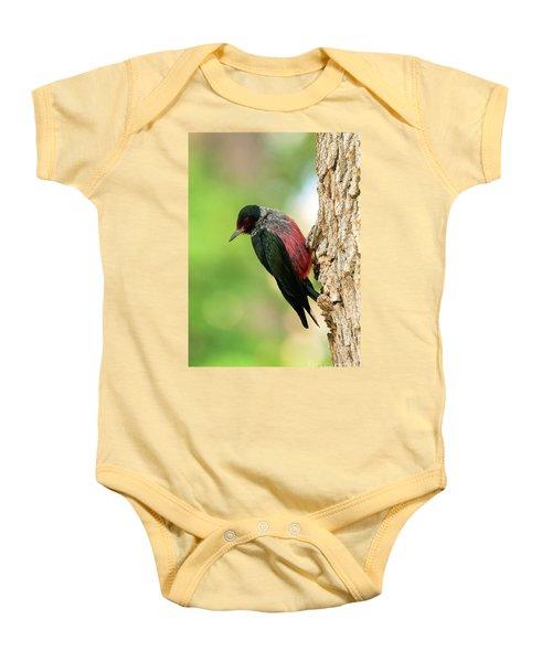 Lewis Woodpecker Baby Onesie