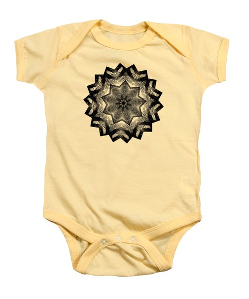 Lines In A Star By Kaye Menner Baby Onesie