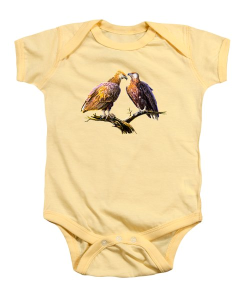 Madagascar Fish Eagle  Baby Onesie by Anthony Mwangi
