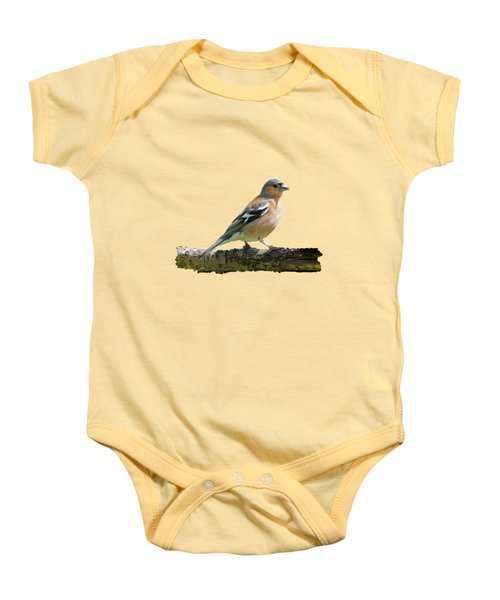Male Chaffinch, Transparent Background Baby Onesie by Paul Gulliver