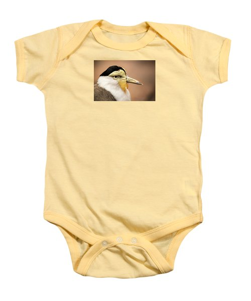 Masked Lapwing Baby Onesie by Don Johnson