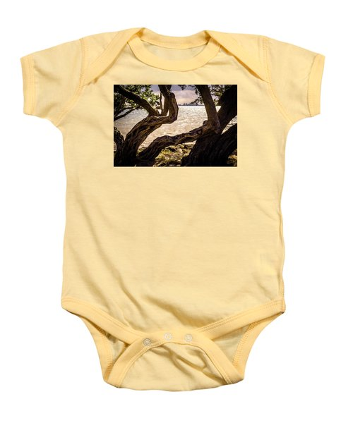 Miami At A Distance Baby Onesie by Camille Lopez