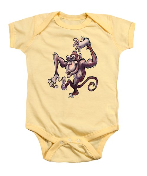 Monkey Baby Onesie by Kevin Middleton