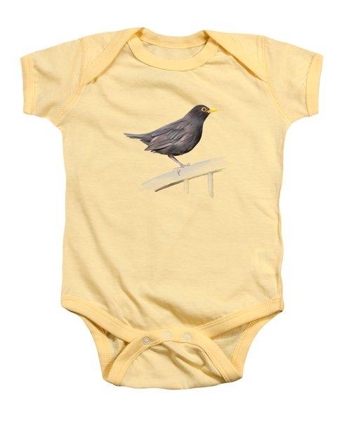 Ms. Blackbird Is Brown Baby Onesie