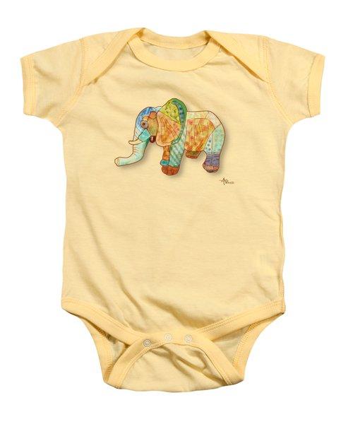 Multicolor Elephant Baby Onesie