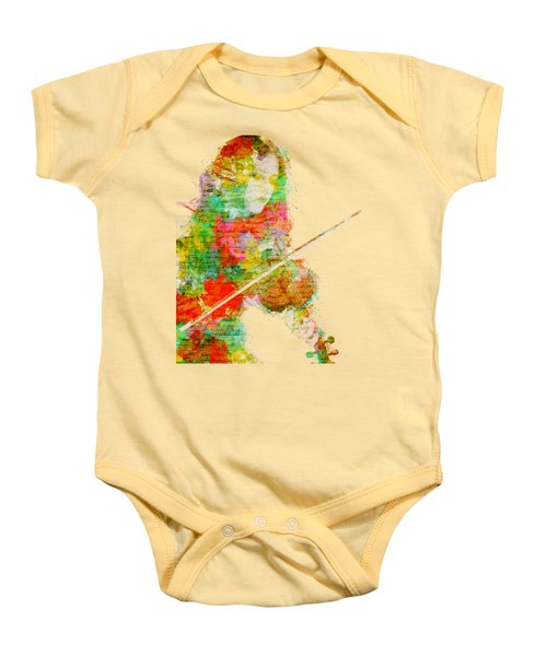 Music In My Soul Baby Onesie by Nikki Smith