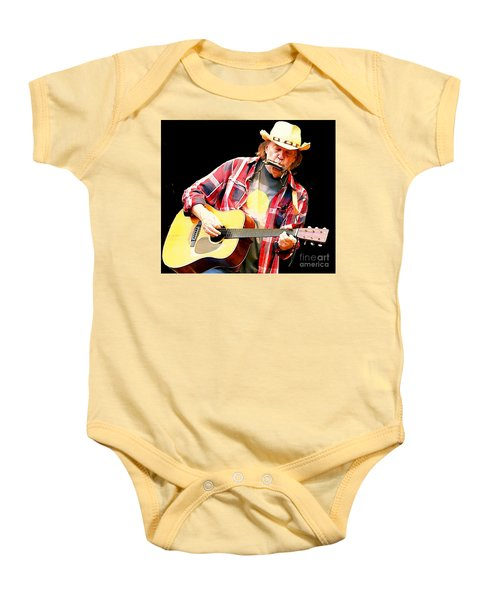 Neil Young Baby Onesie by John Malone