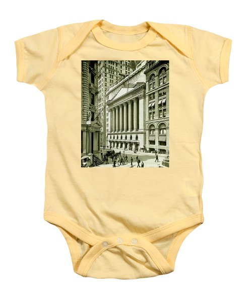 New York Stock Exchange Under Construction 1903 Baby Onesie