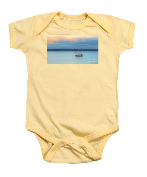 Baby Onesie featuring the photograph Off Sailing by Stephen Mitchell