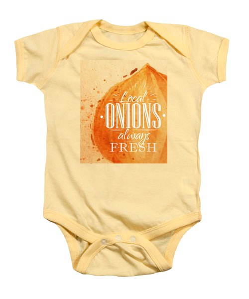 Onion Baby Onesie by Aloke Creative Store