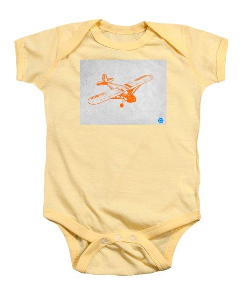 Orange Plane 2 Baby Onesie by Naxart Studio