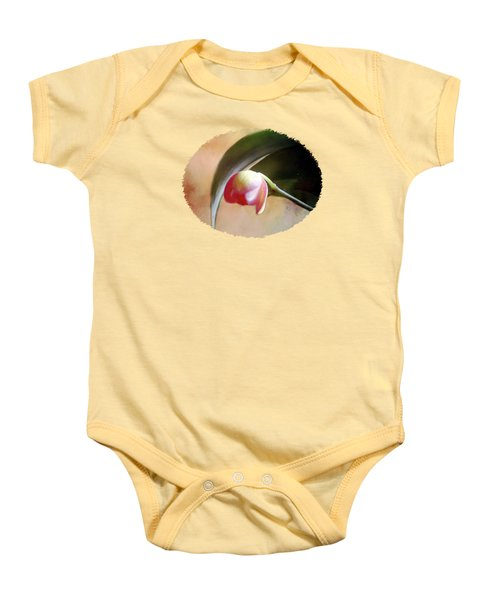 Orchid Opening Baby Onesie