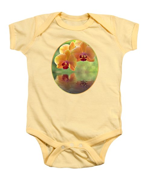 Oriental Spa - Square Baby Onesie by Gill Billington