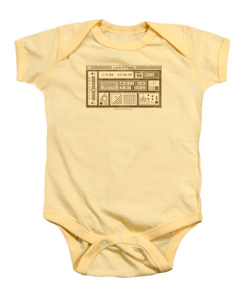 Original Mac Computer Control Panel Circa 1984 Baby Onesie by Design Turnpike