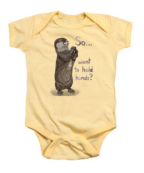 Otter Valentine Baby Onesie by ZH Field
