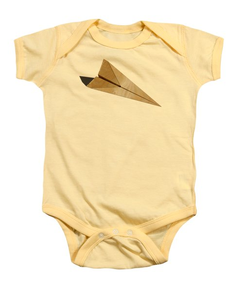 Paper Airplanes Of Wood 15 Baby Onesie by YoPedro
