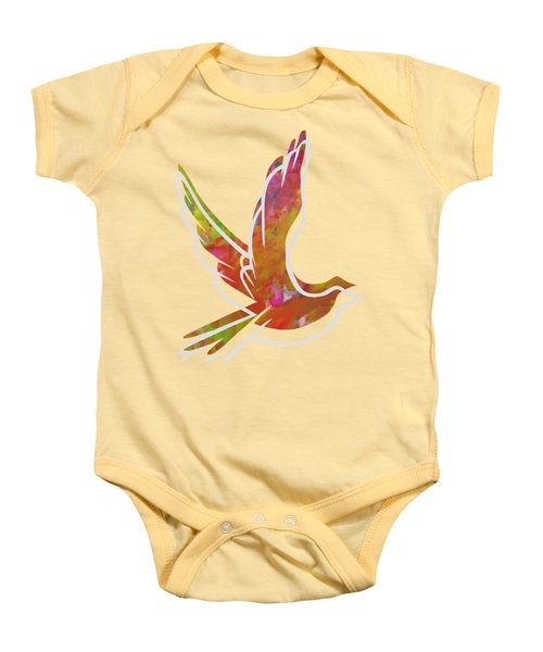 Part Of Peace Dove Baby Onesie by Priscilla Wolfe