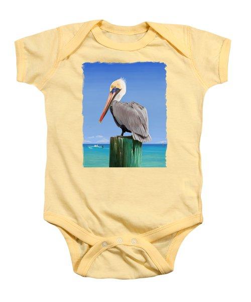 Pelicans Post Baby Onesie