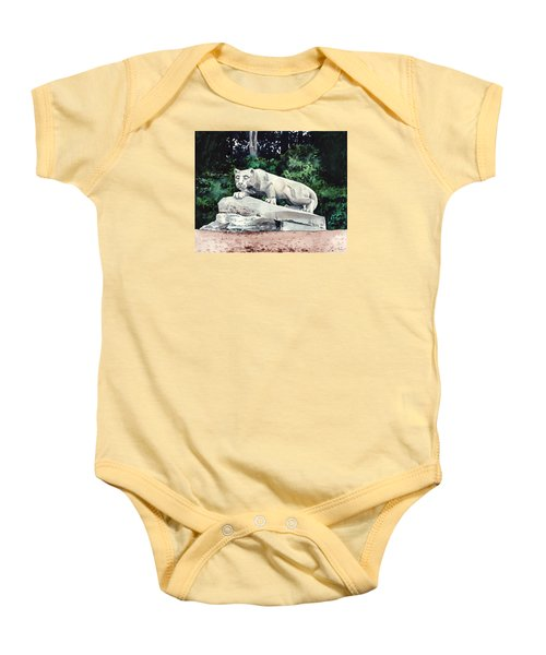 Penn State Nittany Lion Shrine University Happy Valley Joe Paterno Baby Onesie by Laura Row