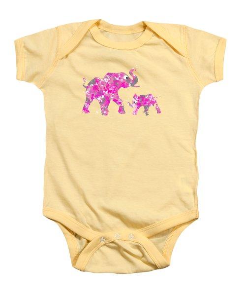 Pink Elephants Baby Onesie