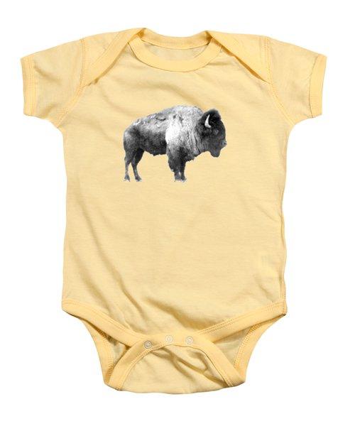 Plains Bison Baby Onesie by Jim Sauchyn
