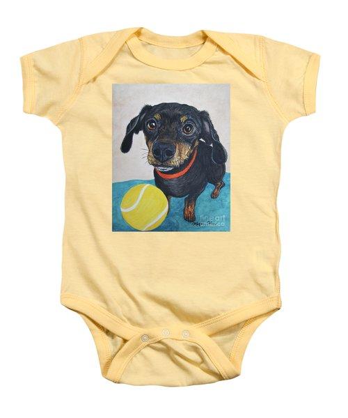 Playful Dachshund Baby Onesie