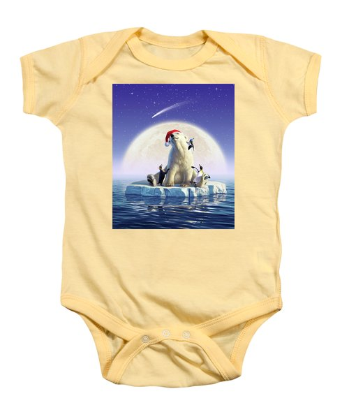 Polar Season Greetings Baby Onesie