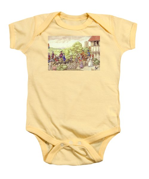 Prince Edward Riding From Ludlow To London Baby Onesie by Pat Nicolle