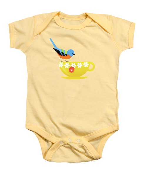 Put The Kettle On Baby Onesie by Little Bunny Sunshine