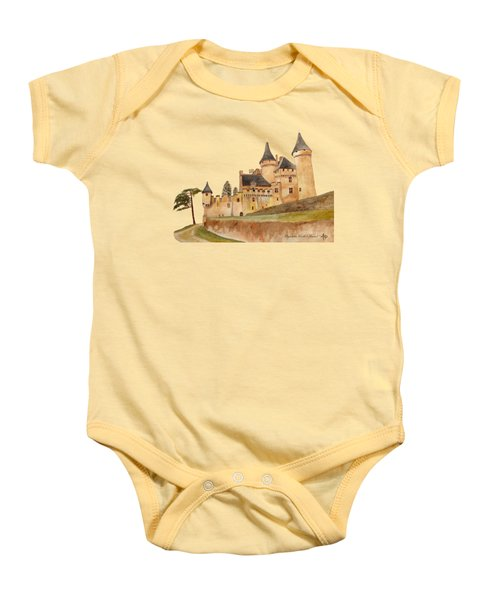 Puymartin Castle Baby Onesie by Angeles M Pomata