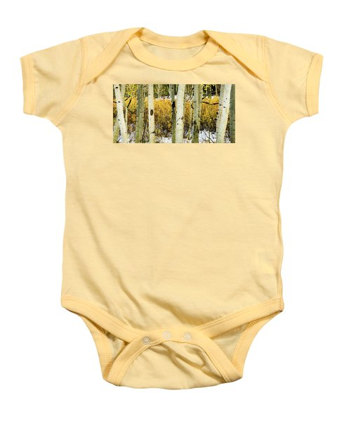 Quakies And Willows In Autumn Baby Onesie