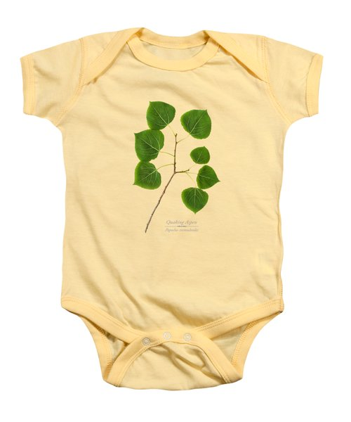 Baby Onesie featuring the photograph Quaking Aspen by Christina Rollo