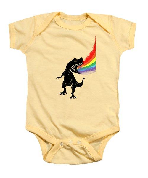 Rainbow Dinosaur Baby Onesie by Mark Ashkenazi